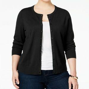 Charter Club Women's Long Sleeve Cardigan Black